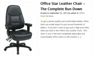 Leather Office Star Office Chairs