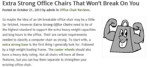 Extra Strong Office Chairs