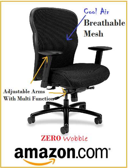 Heavy Duty Desk Chairs For Overweight Or Large People